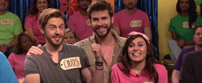Лиам Хемсворт присоединился к Майли Сайрус на шоу «Субботним вечером в прямом эфире»